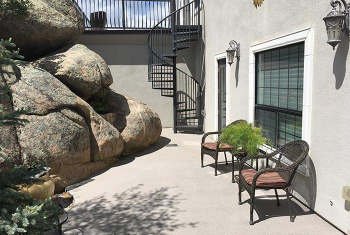 Granite Patio Spiral Staircase in Prescott